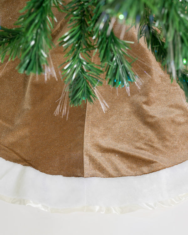 "48"" Gold/White Tree Skirt - Metallic Collection"