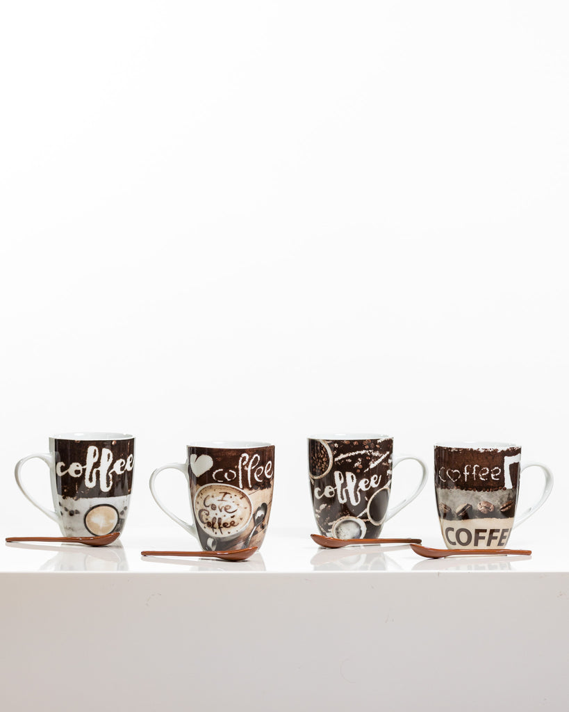 12oz Coffee Love Set/4 - Coffee Time Collection
