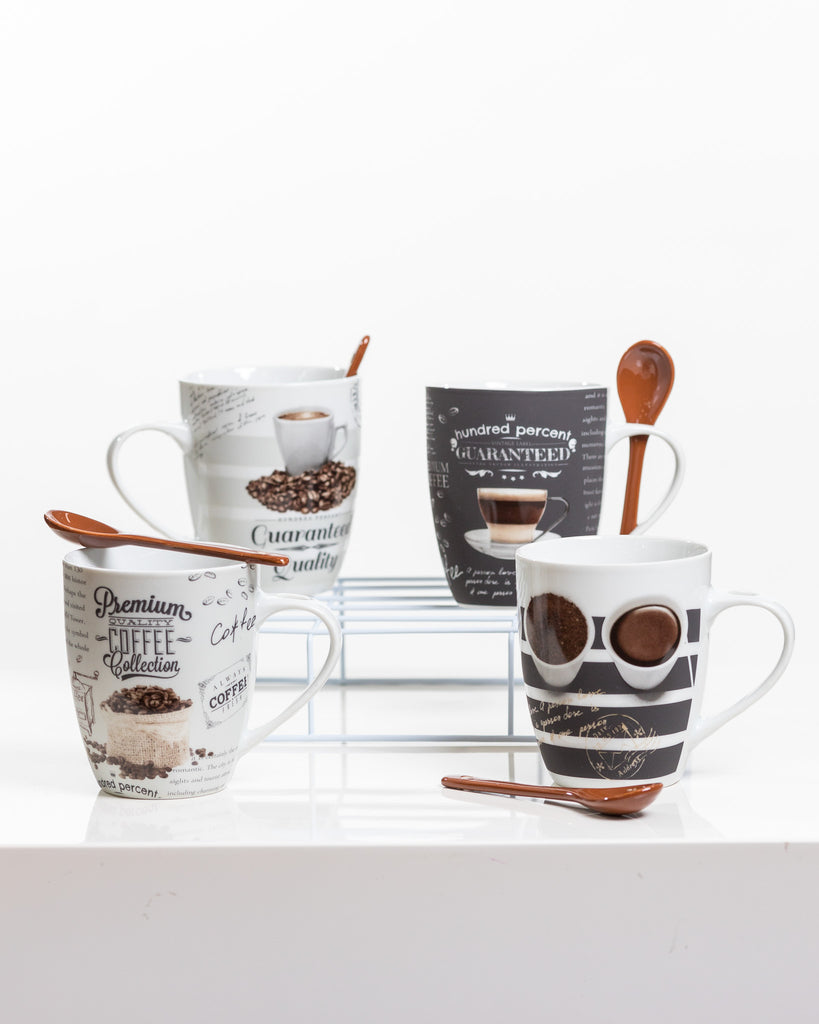 12oz Premium Coffee Set/4 - Coffee Time Collection