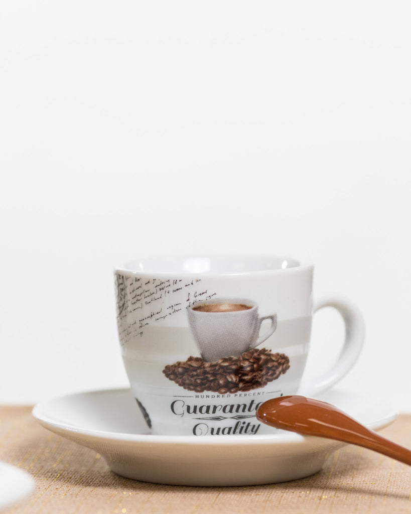 6oz Premium Coffee Set/4 - Coffee Time Collection