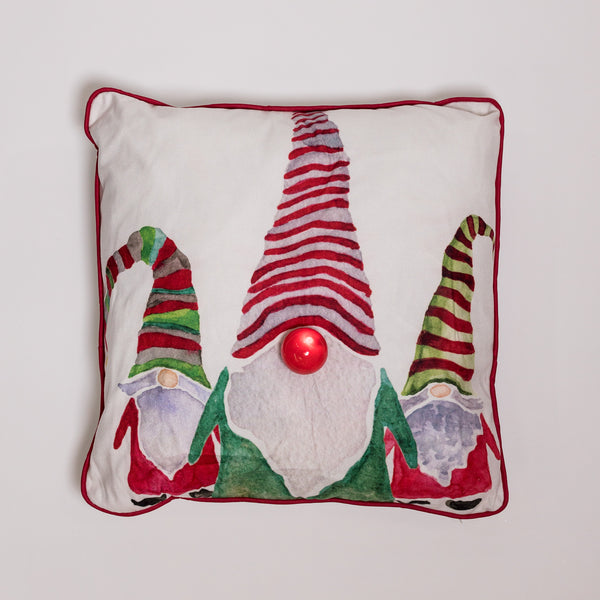 "18"" x 18"" Elves Pillow w/ LED Flashing Light"