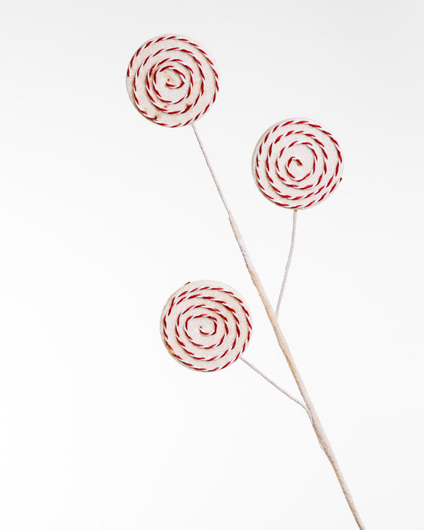 "30"" Lollipop White Red x 3 Spray"