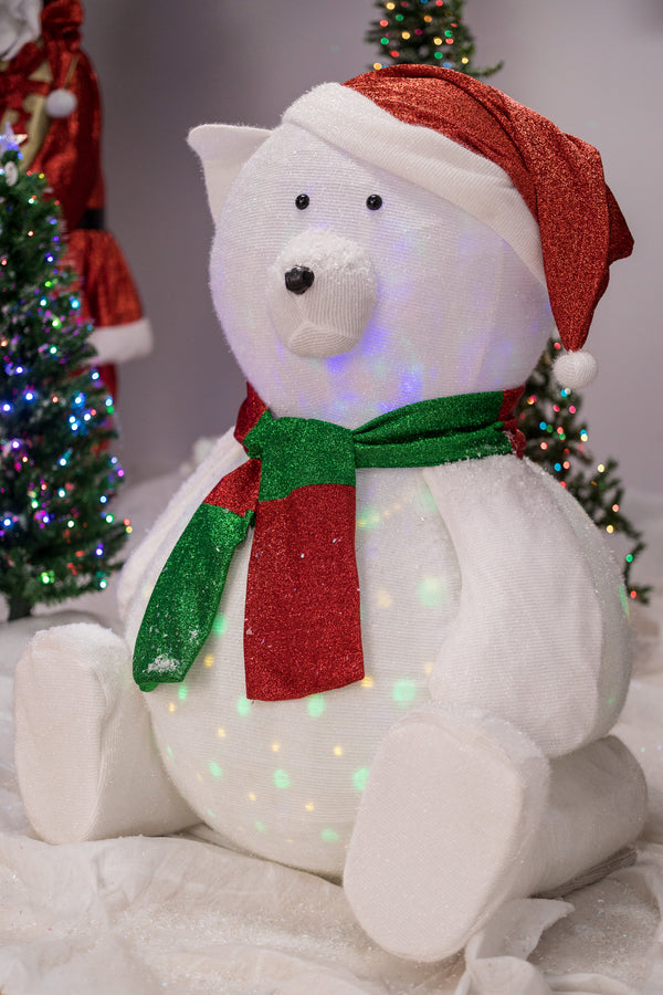 6.5' Indoor/Outdoor Bear with LED Lights - Cheerful Collection