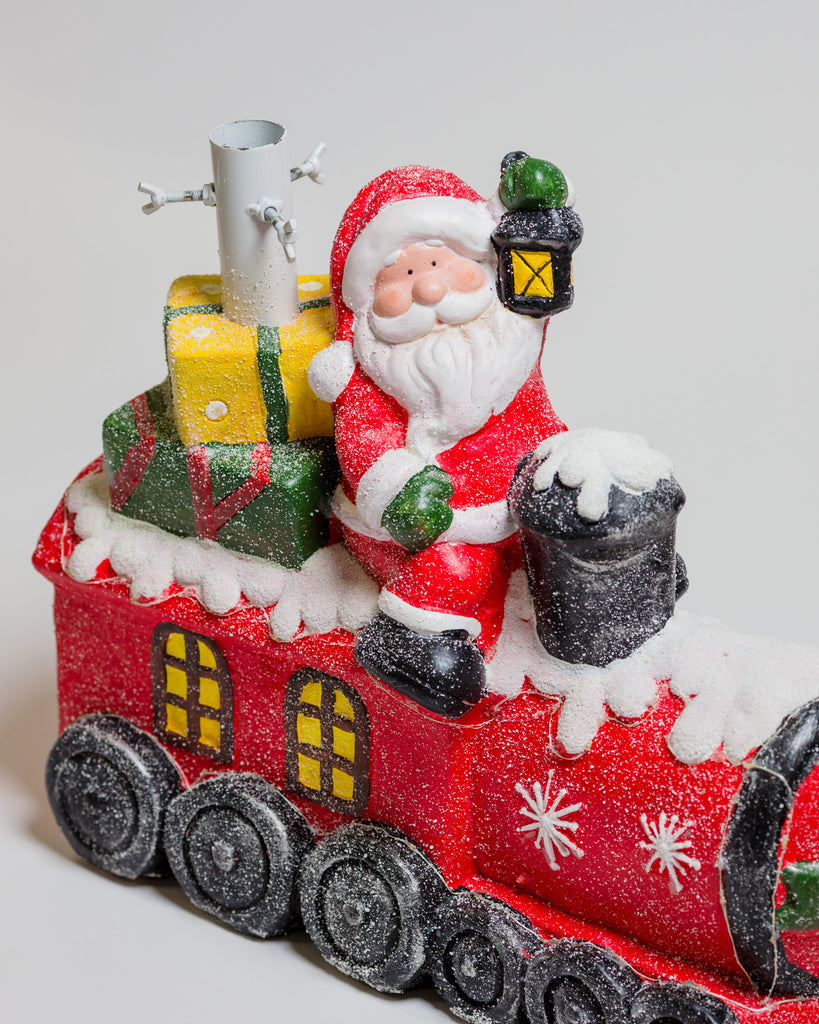 Santa on Train Tree Base -  Includes Lights