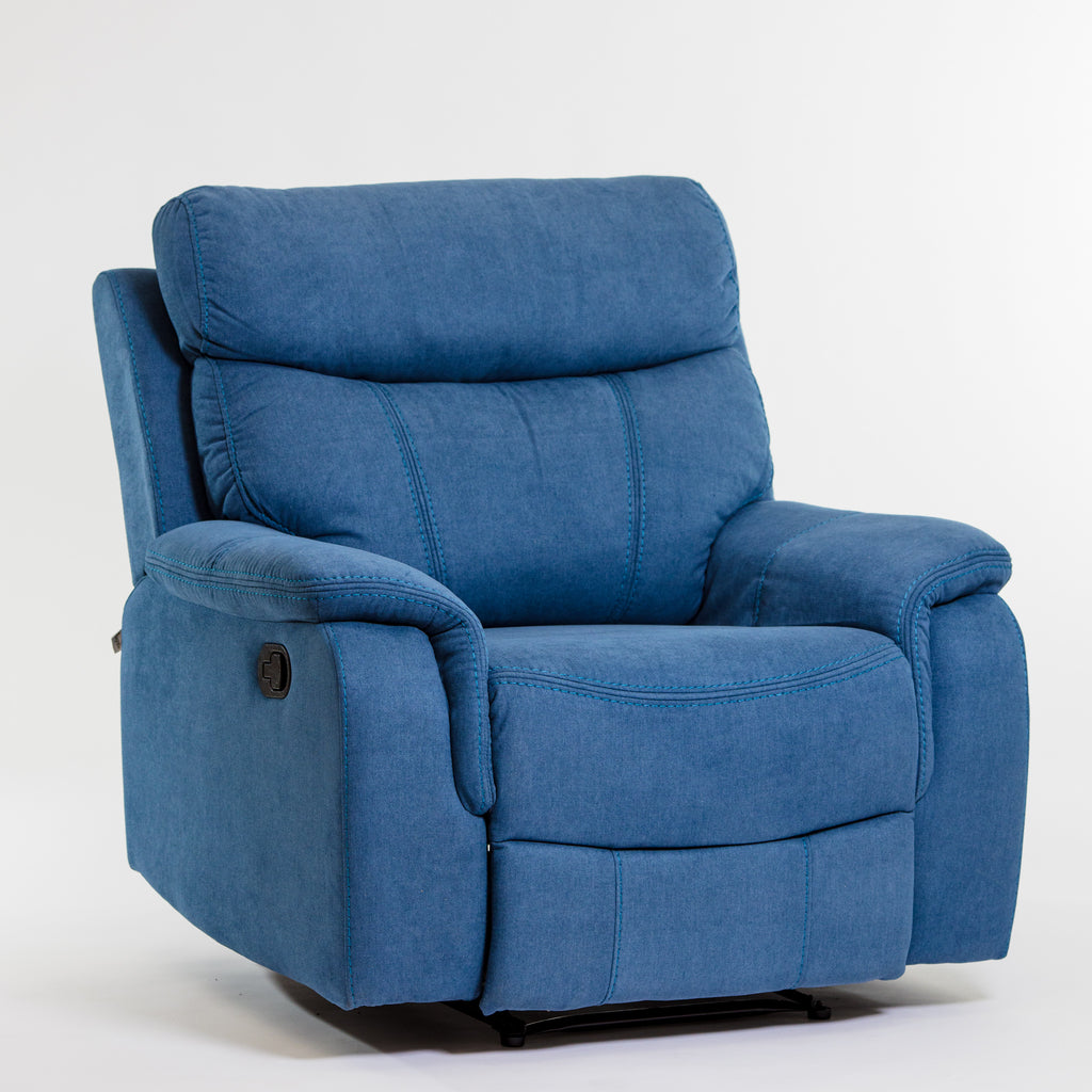 Alexi Deluxe Recliner Chair - Blue
