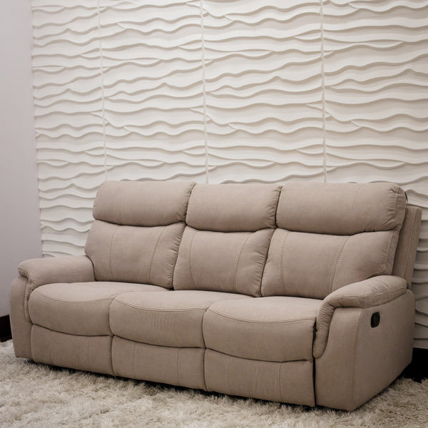 Alexi Deluxe Three Seat Recliner - Sand