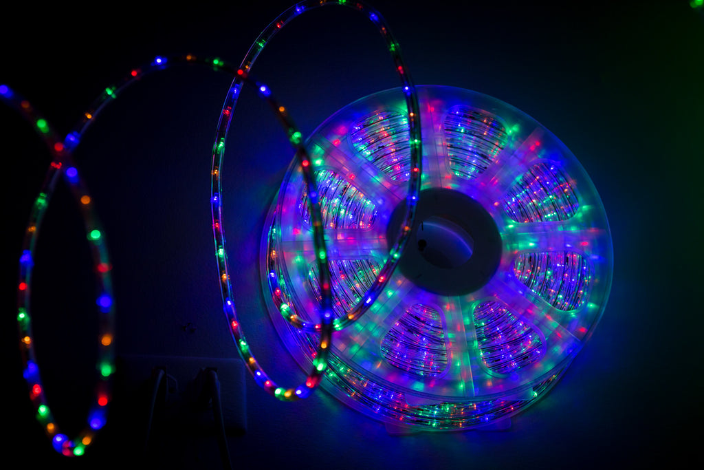 Multicolor LED Rope Light 150ft-Flashing Controller