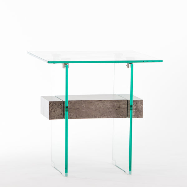 "20"" Blanche Mood End Table - Cement"