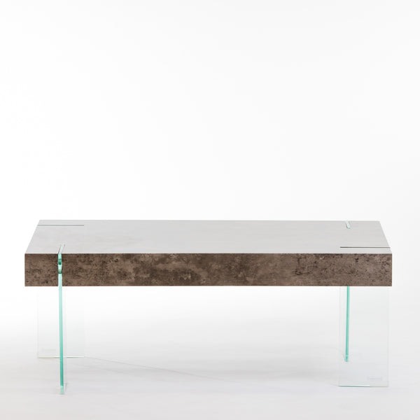 "43"" Crystal Coffee Table - Cement"