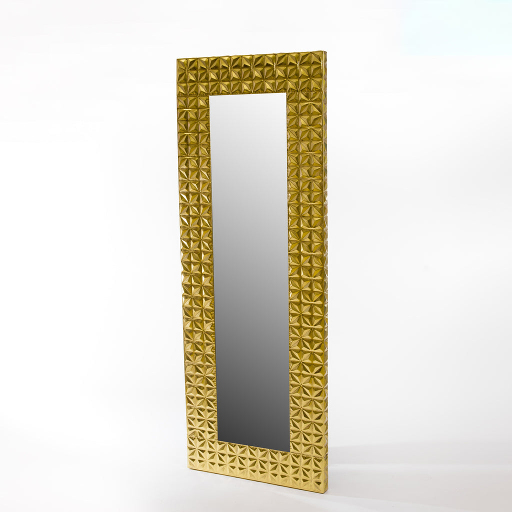 "78"" Gold Lily Mirror - Metalle Collection"