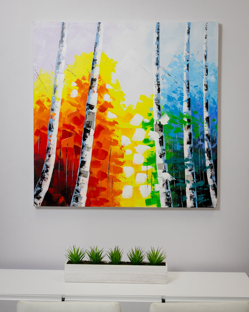 "39"" Quadrado Forest 3D Canvas"