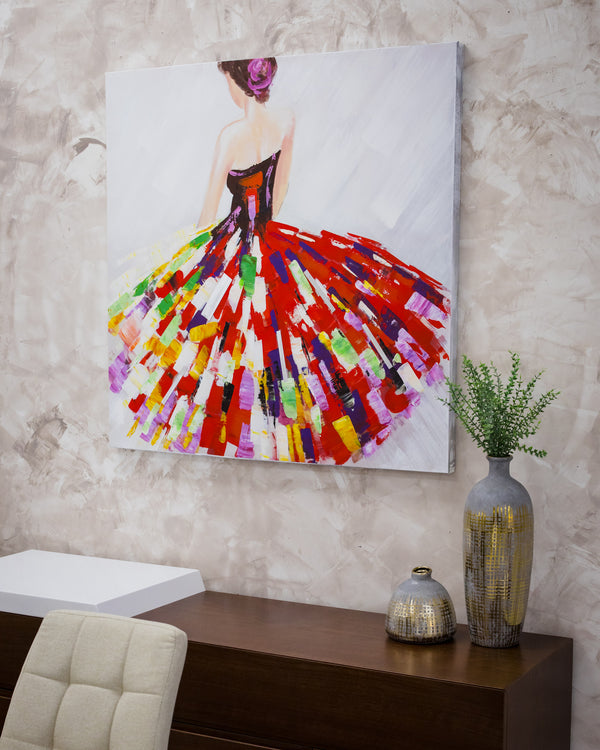 "39"" Red Dress Canvas"