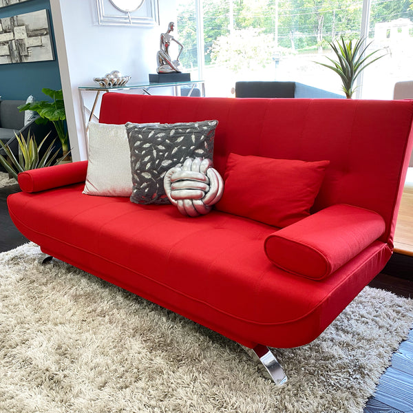 "75"" Unique Sofa Bed (Futón) - Chilli Red"