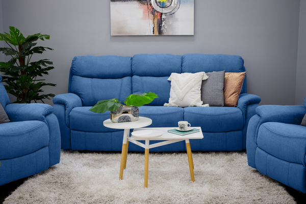 Alexi Deluxe 2 Armchair + Sofa: Blue Color