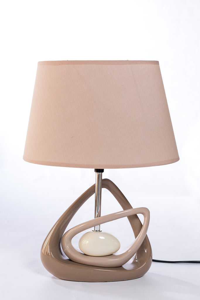 Motif table lamp creambrown oval 17h casa febus home design motif table lamp creambrown oval 17h casa febus home aloadofball Image collections