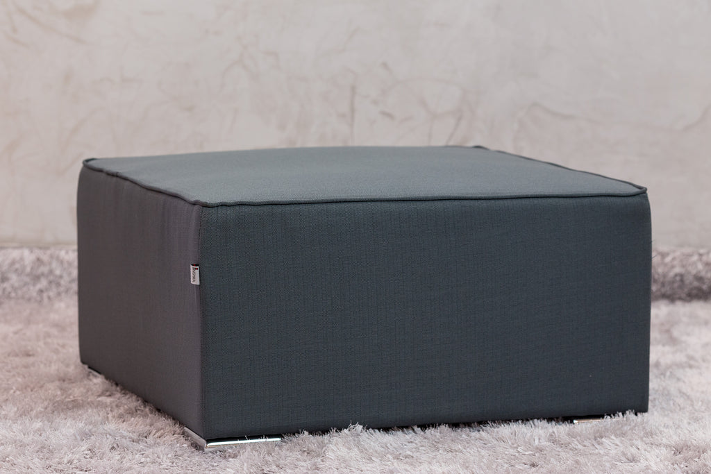 "30""W x 28""H Unique Ottoman - Charcoal Gray - Casa Febus - Home • Design"