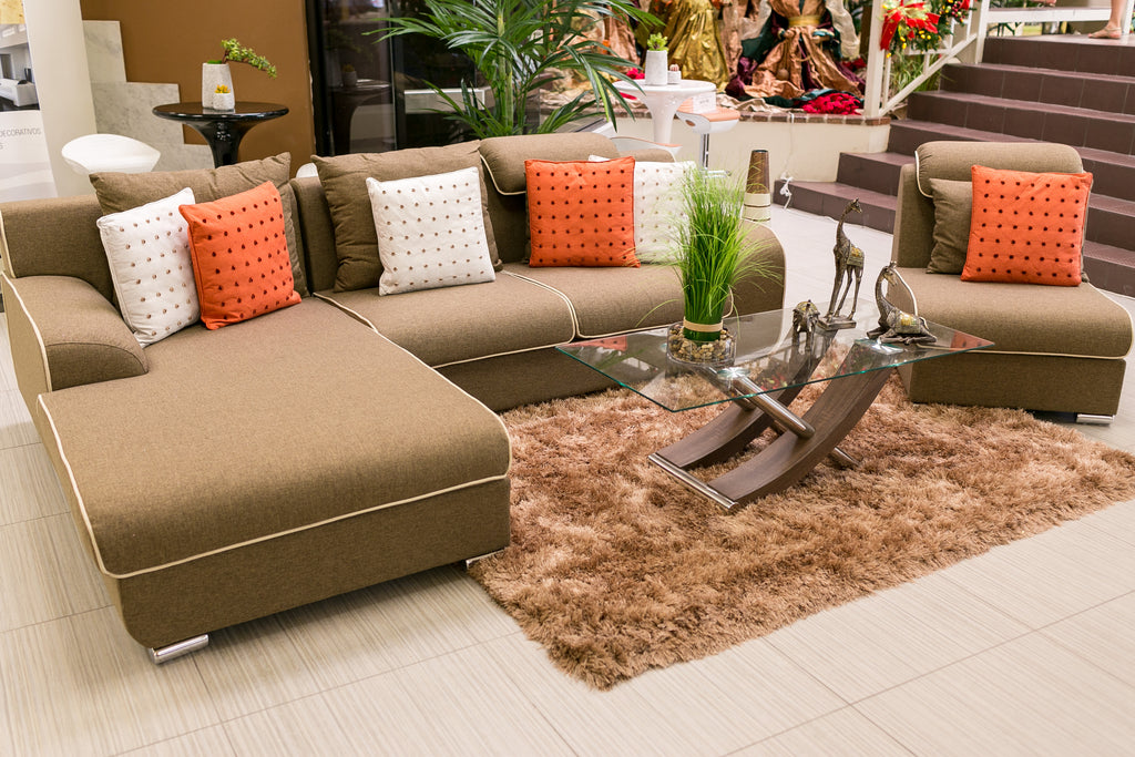 Adelaine Sofa Set - Milk Chocolate