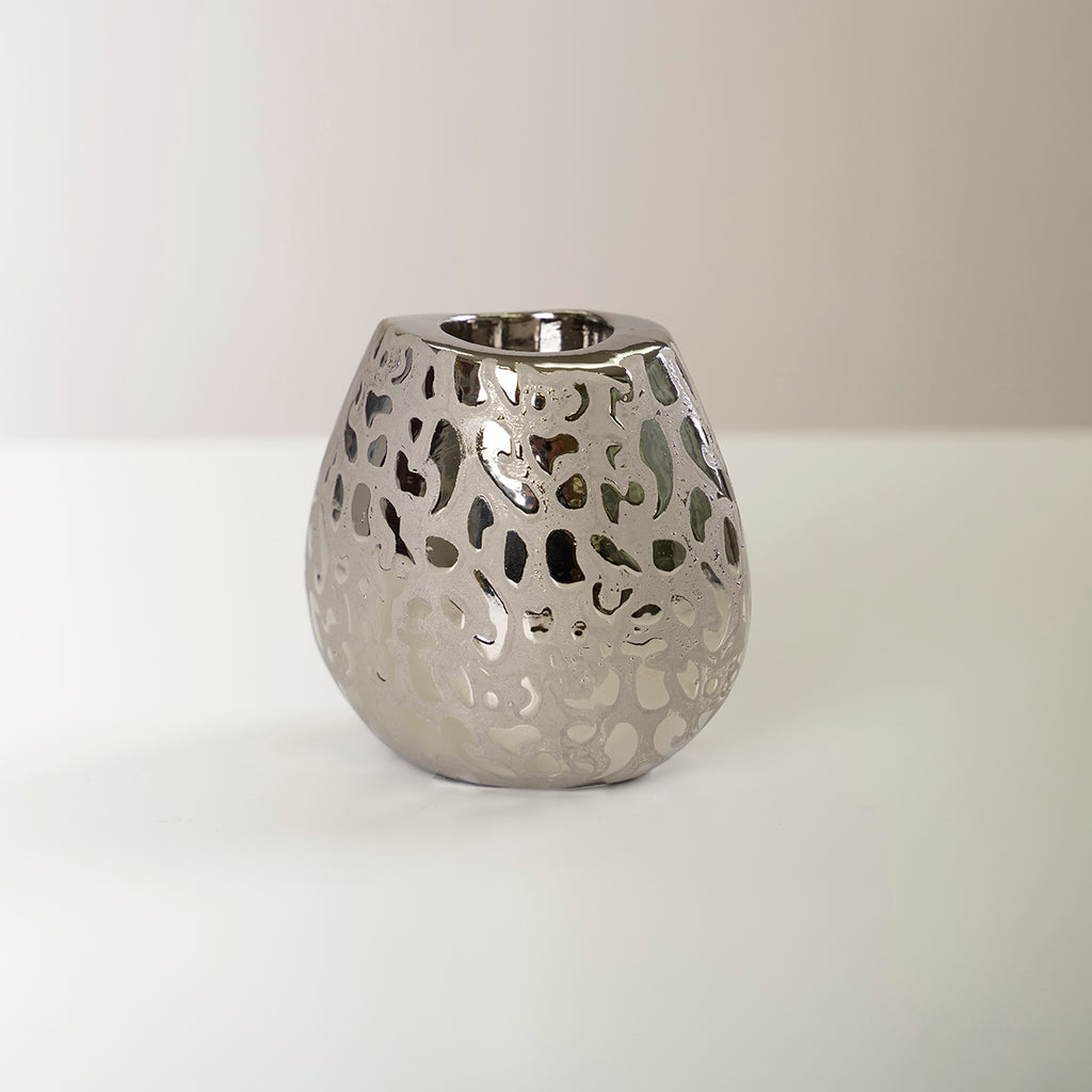 "5"" Silver Plump Vase - Piscitelli Collection"