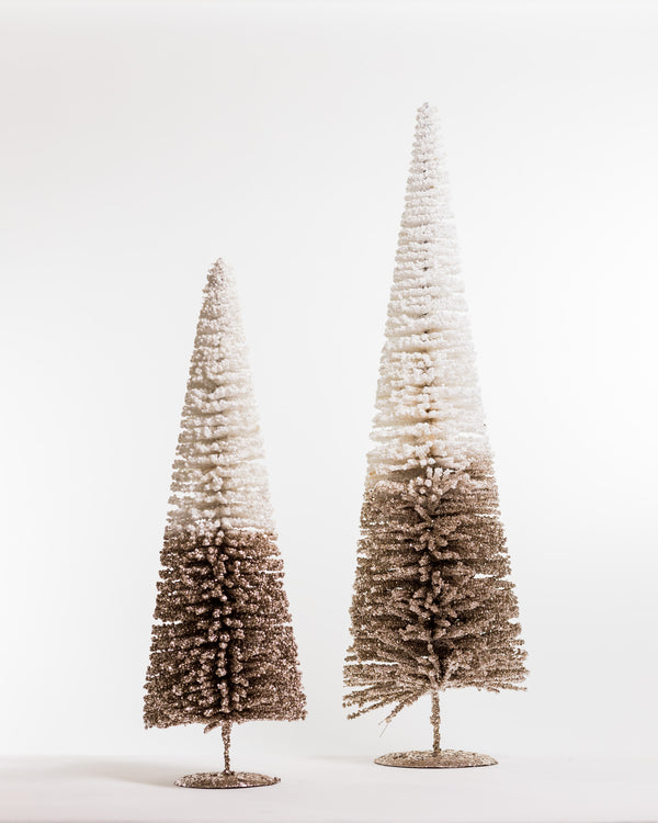 "24"" Chic Xmas Tree White/Champagne - Metallic Collection"