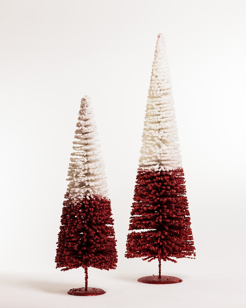 "24"" Chic Xmas Tree White/Red - Metallic Collection"