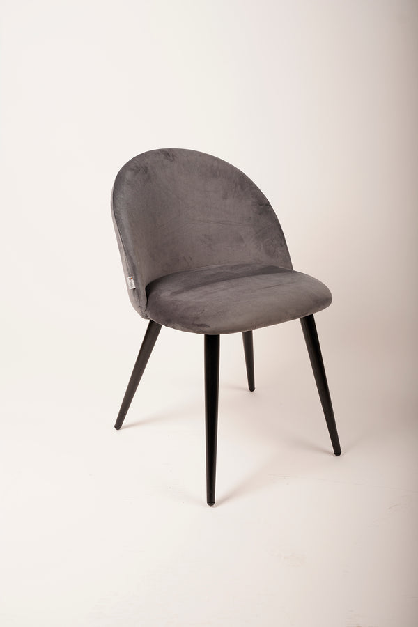 Velvet Chair - Gray