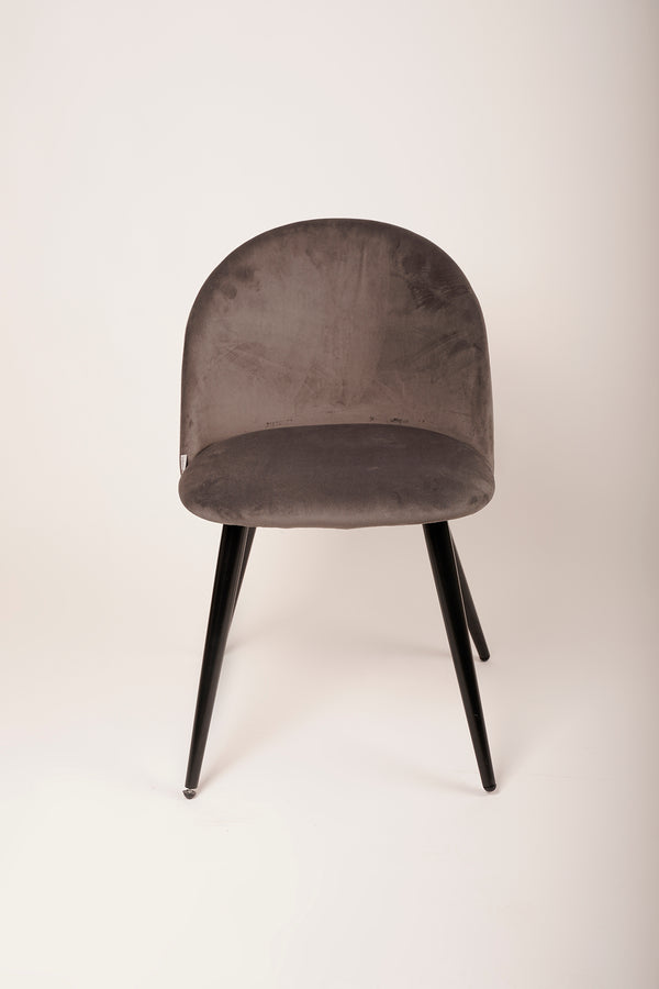 Velvet Chair - Soft Gray
