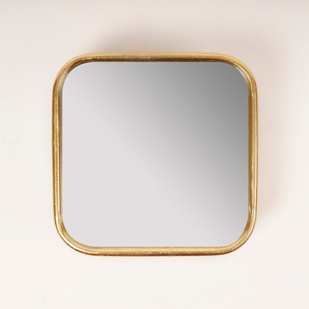 Gold Squircle Mirror - Metalle Collection