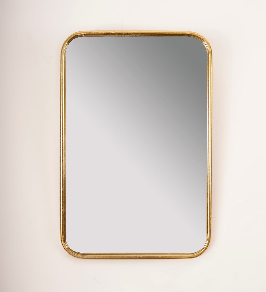 Gold Rounded Rectangle Mirror - Metalle Collection