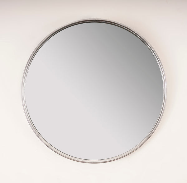 Silver Round Mirror - Metalle Collection