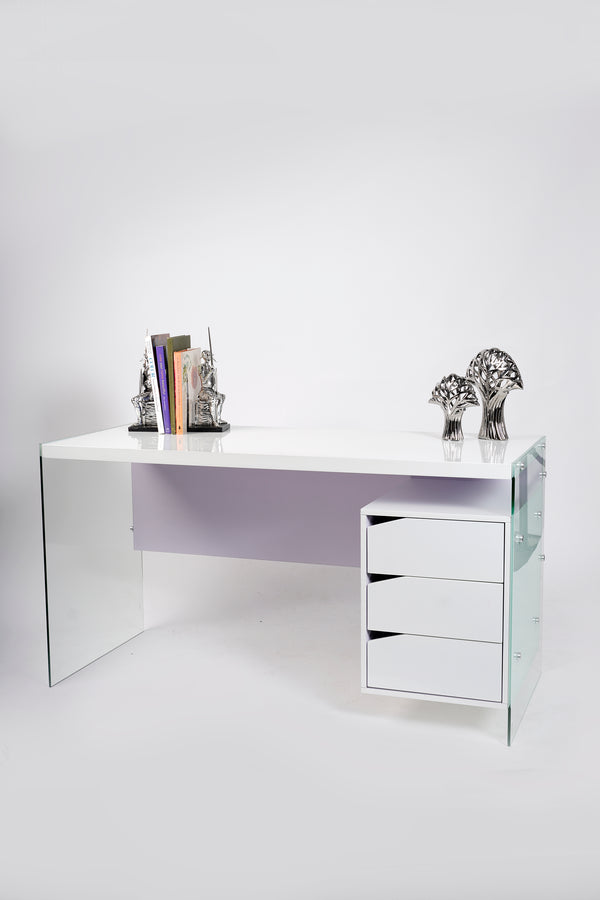 "55"" GT White Desk - Giada Collection"