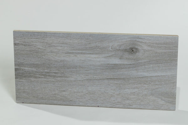 Ash Gray Ceramic Wood Tile (5pc Box) - Bois Collection