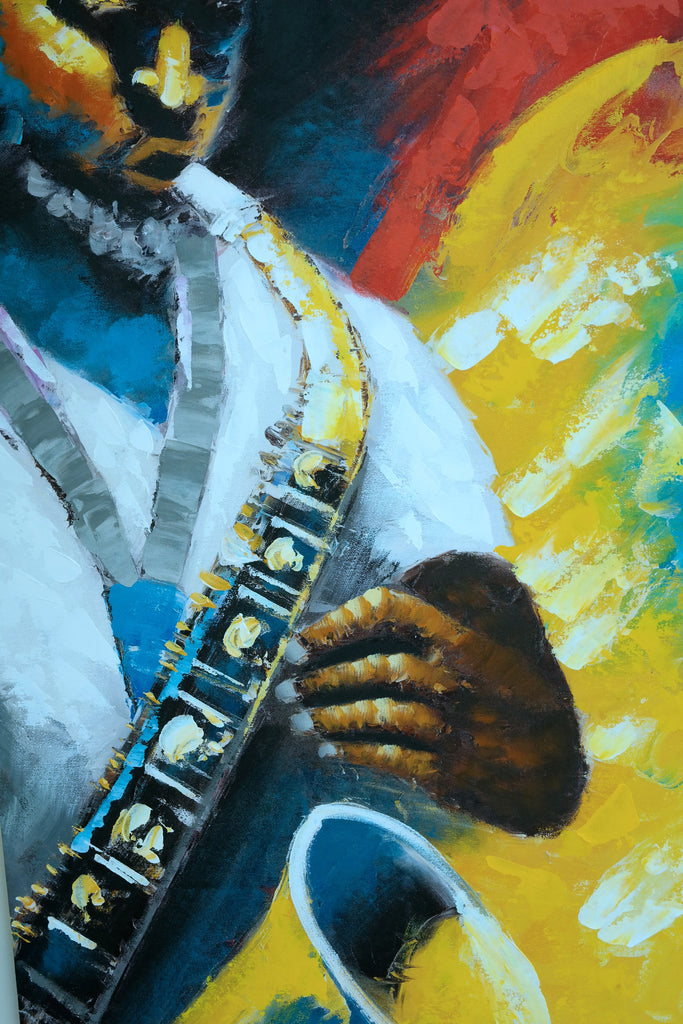"Mur Canvas - Man with Saxophone 24"" x 35"" - Casa Febus - Home • Design"