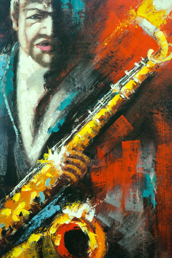 "Mur Canvas - Man with Saxophone Too 24"" x 35"" - Casa Febus - Home • Design"