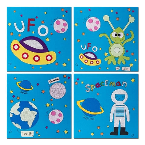 Kids Outer Space Set 4 Canvas - Casa Febus - Home • Design