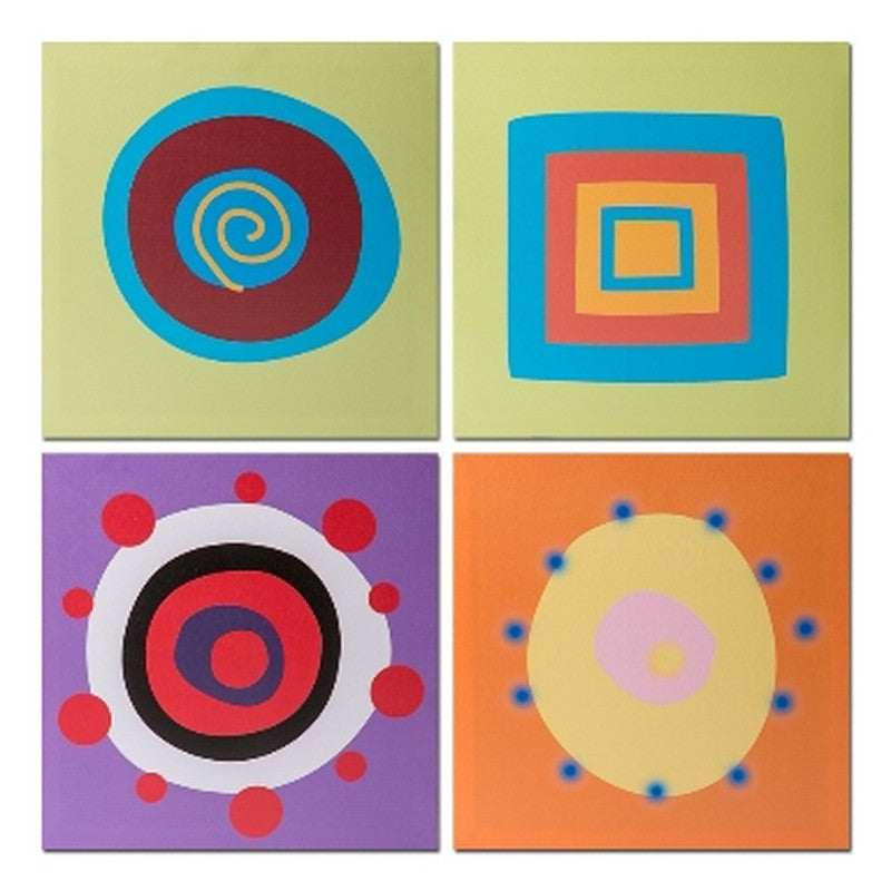 Circles  Square Set 4 Canvas - Casa Febus - Home • Design