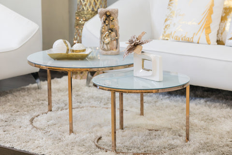 "32"" Arrondi Round Coffee Table - Gigi Collection"