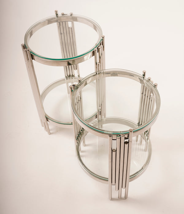 Set/2 End Table Silver - Gemma Collection