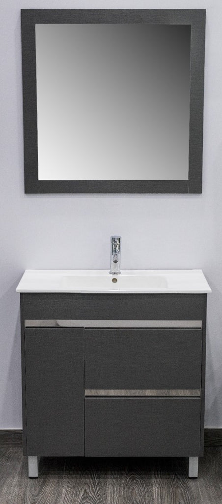 "Tess Faucet Cabinet w/mirror & fittings 32"" -Nouveau Collection"