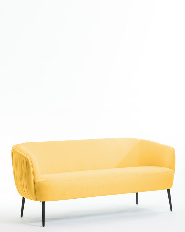 Hope Sofa & 2 Armchair Set- Dijon Yellow