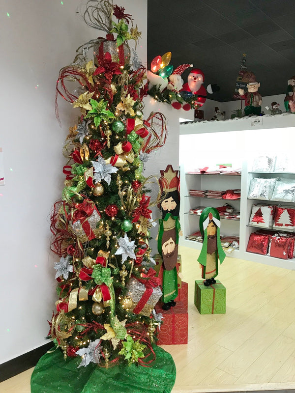 9' Christmas Pencil Tree