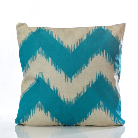 "18"" x 18"" Zig Zag Pillow - Lt. Blue 18"" x 18"" - Casa Febus - Home • Design"