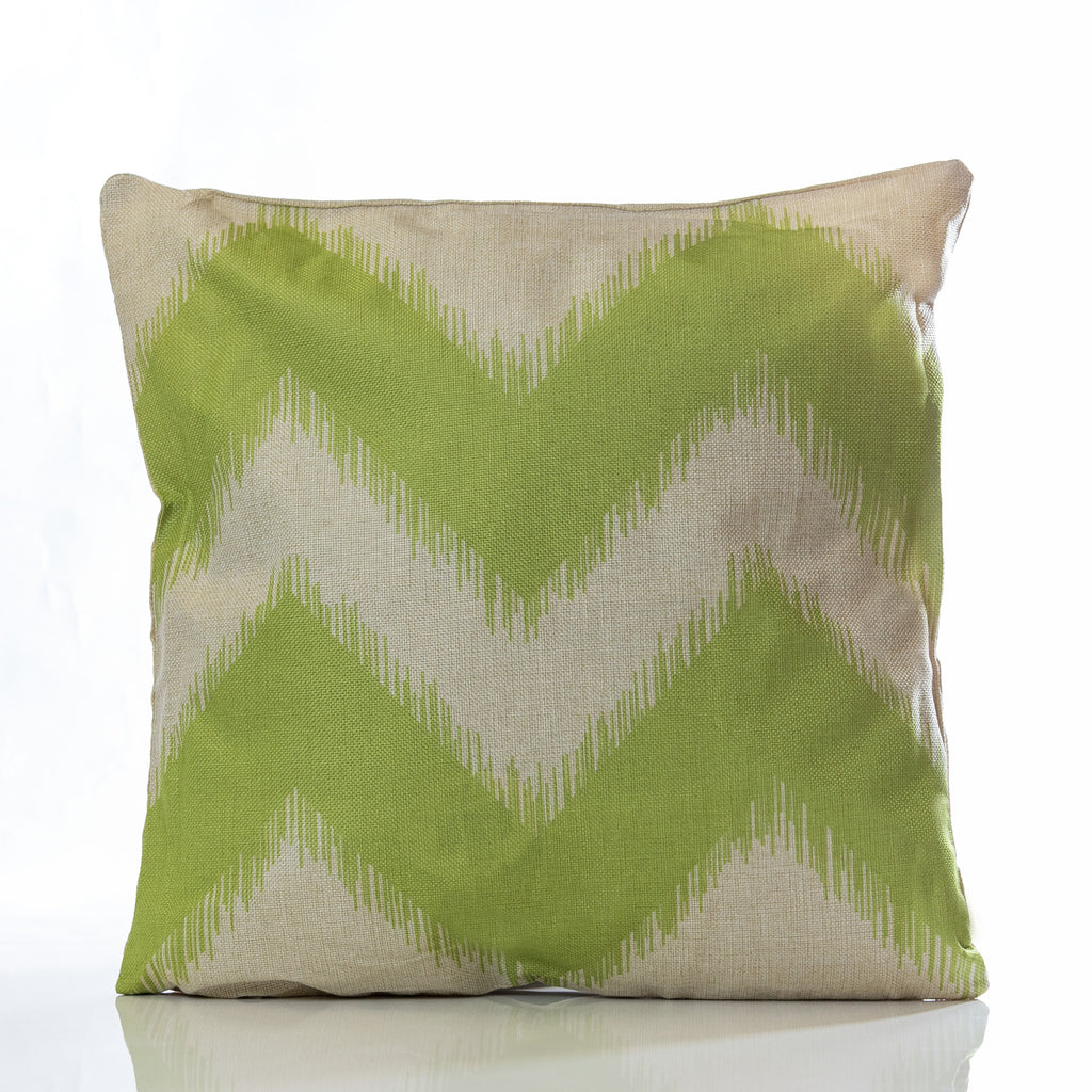 "Zig Zag Pillow - Green 18"" x 18"" - Casa Febus - Home • Design"