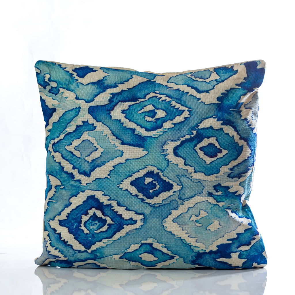 "Acuarela Pillow - Blue Combination 18""x18"" - Casa Febus - Home • Design"