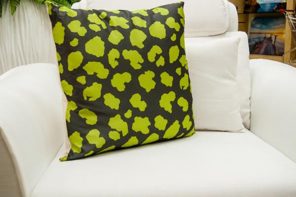 Crackle Cushion - Green - Casa Febus - Home • Design