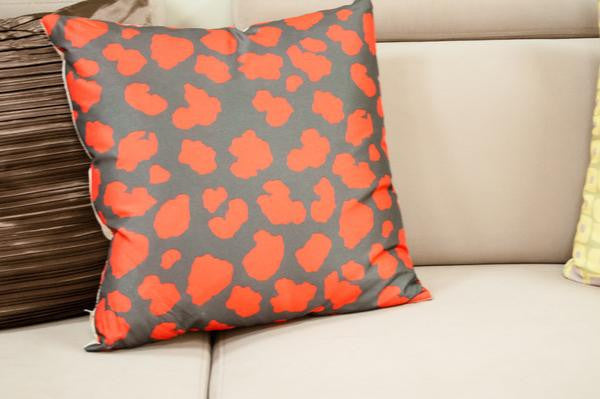 Crackle Cushion - Red - Casa Febus - Home • Design