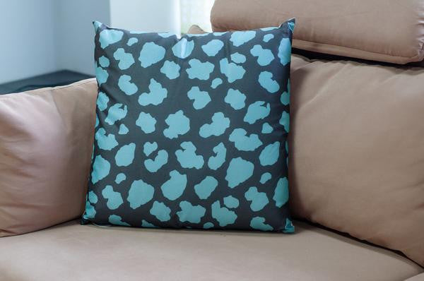 Crackle Cushion-Blue - Casa Febus - Home • Design