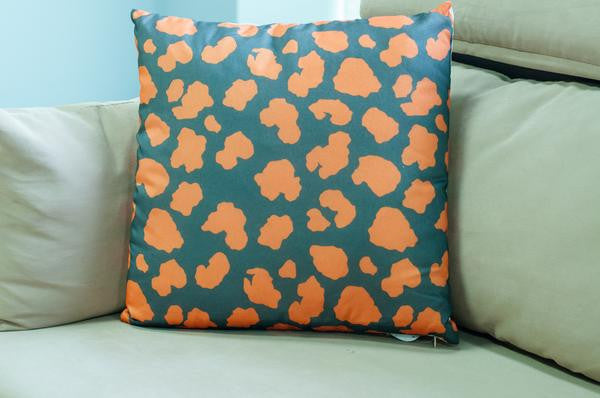 Crackle Cushion-Orange - Casa Febus - Home • Design