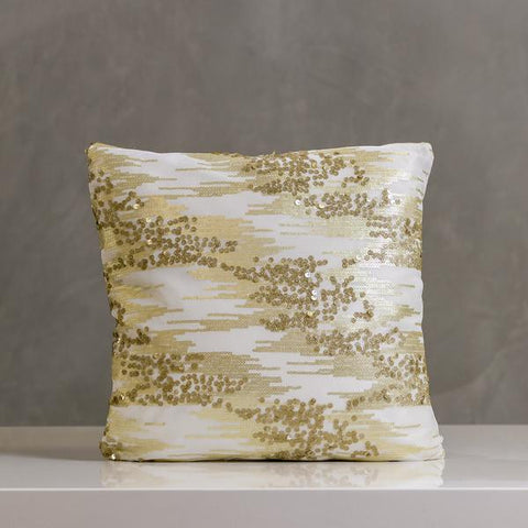 "Festive Ice Pillow 16""x16"" Gold - Casa Febus - Home • Design"