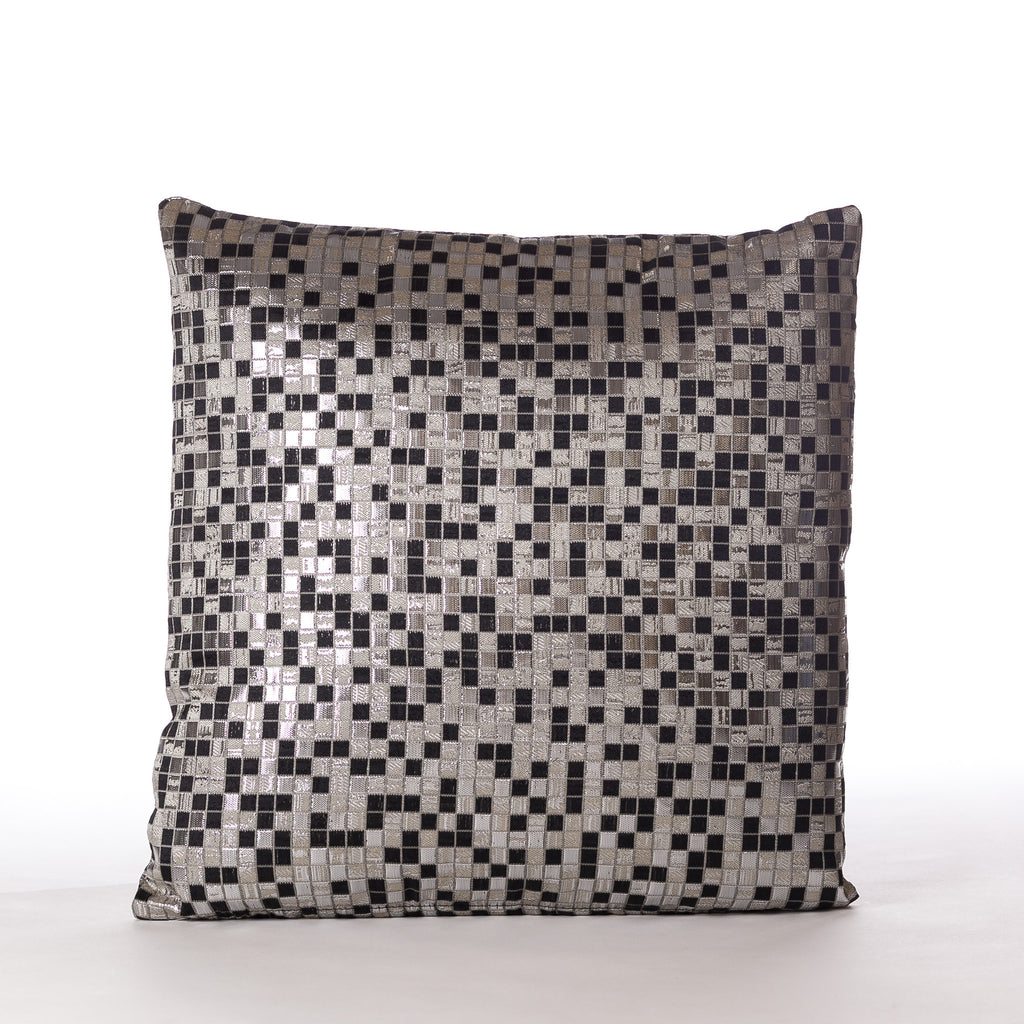 "Fiesta Cushion - S 18"" x 18"" Silver Dark Mix - Casa Febus - Home • Design"