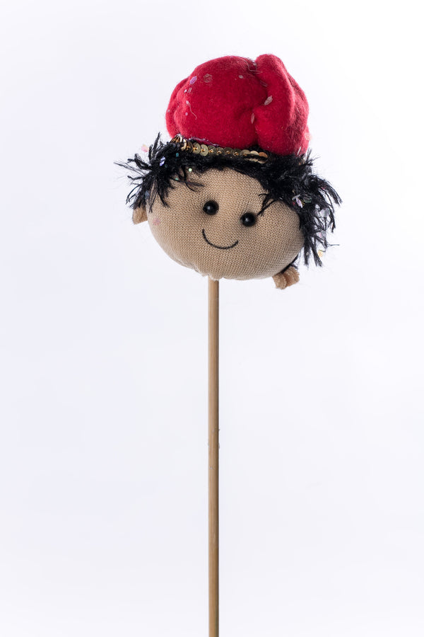 """Baltasar"" w red hat on wood stick - 3"" - Casa Febus - Home • Design"